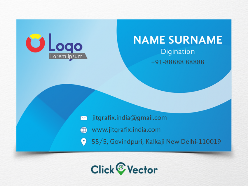 colorful beautiful gradient business card free cdr  photo